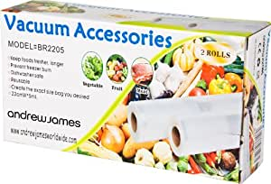 Andrew James Vacuum Food Sealer Rolls 22cm X 10 Metre Roll