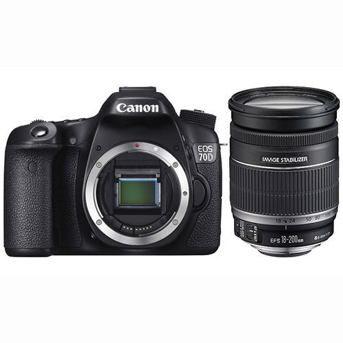 Cannon 70D (Lens 18-200+Pouch and Card)