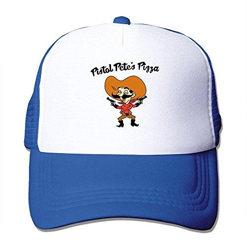 SALAN Pistol Pete's Pizza Polyester&Nylon Trucker Hat Traveler Hats RoyalBlue