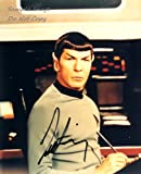 Leonard Nimoy- 8x10 signed autographed reprint photo. Star Trek (Spock)
