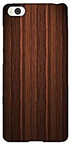 Snoogg Wood Furnish Hard Back Case Cover Shield For Xiaomi Mi4i / Mi4I