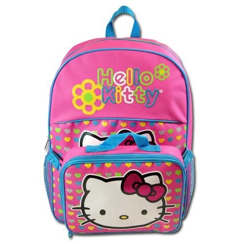 Sanrio Hello Kitty Large Backpack with Re-attachable Lunch Bag