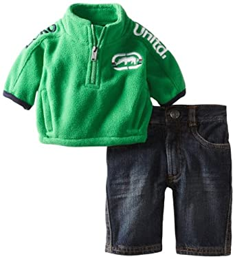 Ecko Baby-Boys Newborn Polar Fleece Jacket and Jean, Celtic Green, 6 Months