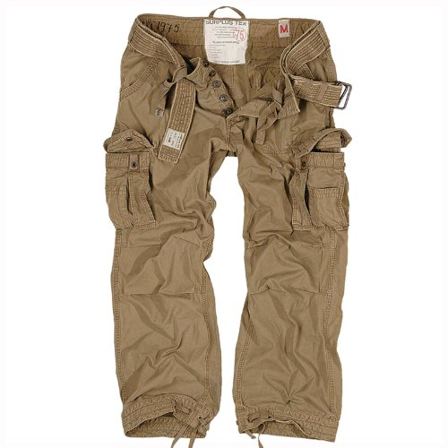Surplus Military Premium Vintage Combat Trousers Cargo Mens Work Surplus Pants Coyote