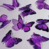 Butterfly 3D Translucent Decoration 12 AMETHYST Butterflies