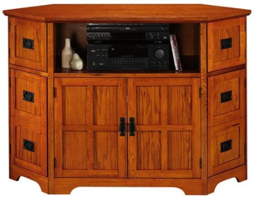 Cheap Craftsman Corner Wide screen Tv Stand With 6 Doors (B001Y01LJE)