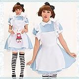子供アリス(120〜140cm):ハロウィンアリス子供大人親子不思議の国のアリスコスプレコスチューム衣装仮装ファンタジードレスディズニーハロウィーンハロウインHALLOWEEN魔女かぼちゃパーティーグッズ変装リボン(子供アリス(120〜140cm))