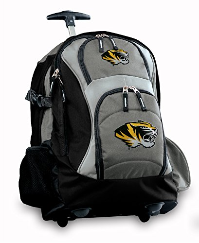 Mizzou Rolling Backpack Deluxe Gray University Of Missouri Tigers Best Backpack
