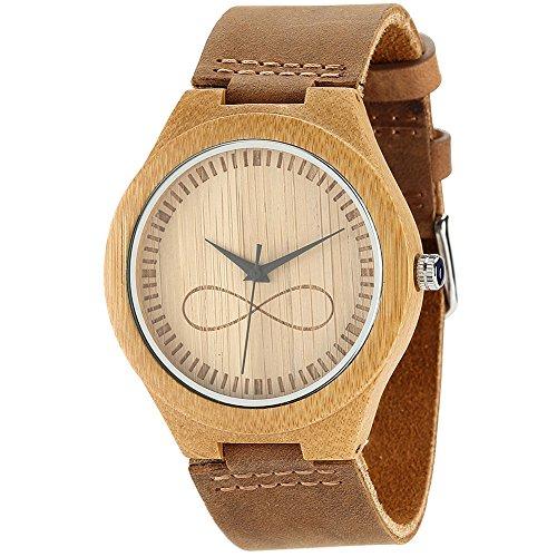 Uhren Test Wonbee Herren Bambus Holz Uhren Infinity Sign Design Mit