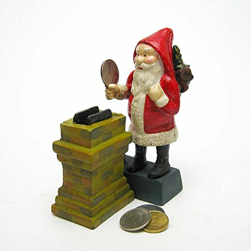 Design Toscano Santa at the Chimney Collectors' Die Cast Iron Mechanical Coin Bank