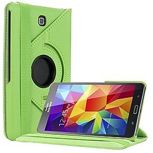 Bestwe Grün 360° Ledertasche Flip Case Tasche Etui für Samsung Galaxy Tab 4 7.0 (7 Zoll) mit Ständerfunktion