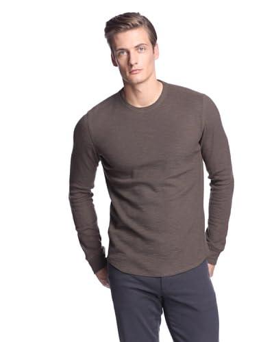 Vince Men's Long Sleeve Slub Thermal Shirt