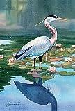 Toland Home Garden Reflecting Heron 12.5 x 18-Inch Decorative USA-Produced Garden Flag