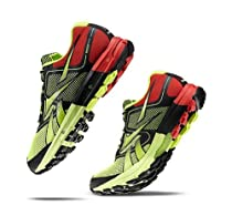 Reebok - Mens Reebok One Cushion Yellow Black Red Lowtop Shoes, Size: 9.5 D(M) US, Color: Neon Yellow Black Techy Red