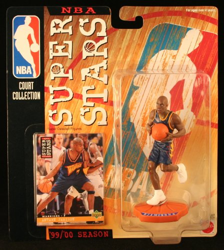 ANTAWN JAMISON / WASHINGTON WIZARDS * 99/00 Season * NBA SUPER STARS Super Detailed Figure, Display Base & Exclusive Upper Deck Collector Trading Card - 1