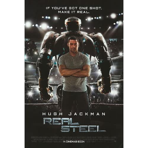 Original double-sided poster for the Real Steel movie with Hugh Jackman