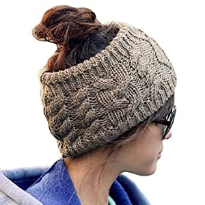 Eforcase Twist knitting wool hat headgear Women's Ladies Korea Knit Crochet flora Twist Style Headband Head Wrap great Xmas present