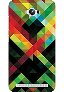 AMEZ designer printed 3d premium high quality back case cover for Asus Zenfone Max ZC550KL (colour shape pattern)
