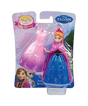 Mattel – La Reine des Neiges – MagiClip – Anna – 1 Mini Poupée + 1 Robe Clippable