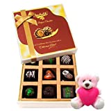 Valentine Chocholik Premium Gifts - Magnificent Assortment Of Dark Chocolate Treats With Teddy