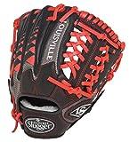 Louisville Slugger FGHDSR5 HD9 Scarlet Fielding Glove, 11.5-Inch/Black/Red
