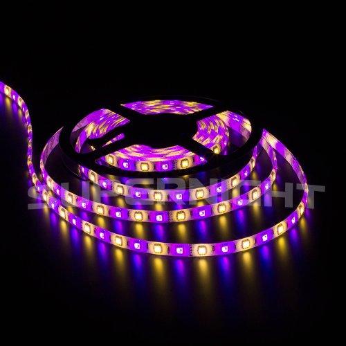 Color Changing Tape Light: Supernight 16.4ft RGBWW Color Changing LED Strip Light Kit