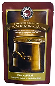 SeaBear Spicy White Bean Soup with Smoked Salmon, 16 Ounce Unit by SeaBear