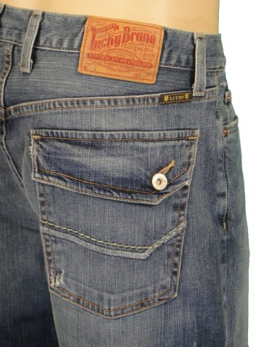 Lucky Brand Jeans Mens Relaxed Flap Pocket Jeans
