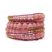 Pink Opal Wrap Bracelet   Chan Luu Style Wrap Bracelet