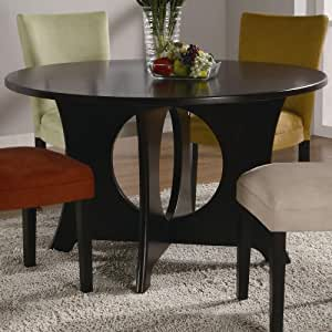 Coaster Castana Round Dining Table with Crossing Pedestal Base