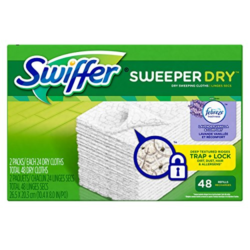 Swiffer Sweeper Dry Sweeping Pad Refills for Floor mop with Febreze Lavender Vanilla & Comfort Scent 48 Count (Dog Sweeper compare prices)