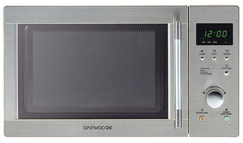 Daewoo KOR6N7RS 20 litre 800 watt Touch Control Solo Microwave Oven, Stainless Steel