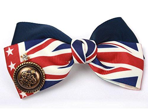 英国旗 大き 蝶リボン ヘアピン ファッション 髪飾り レディース
