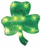 "Northlight Seasonal Lighted St. Patrick's Day Irish Shamrock Window Silhouette Decoration, 15"""