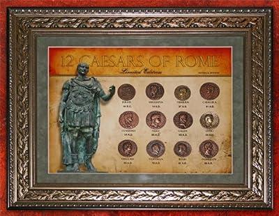 (DM 214) 12 Caesars of Rome Framed 11x14