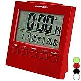 Jago Funkwecker mit Mondkalender und Temperaturanzeige mit LCD-Display in vier