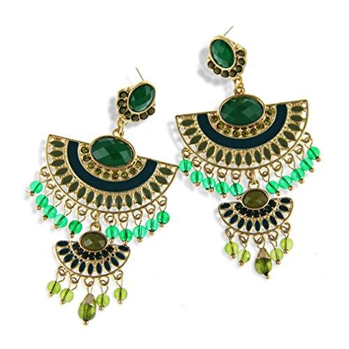 LOMOL Womens Fashion Top Grade Noble Personality Resin Alloy Earrings Christmas Gift(C1)