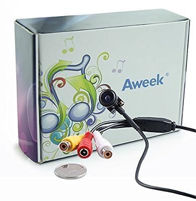 "Aweek® 600TVL 1/4"" HD Smallest Mini Camera Pinhole CCTV Camera CMOS Hidden Covert Cam Home Security Camera Audio Surveillance"