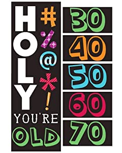 Creative Converting Holy Bleep Giant Party Banner with Customizable Stickers from Creative Converting