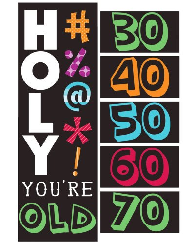 Creative Converting Holy Bleep Giant Party Banner with Customizable Stickers - 1