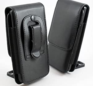 DIGITALJIMS BLACK LEATHER BELT CLIP POUCH CASE COVER PROTECTOR FOR SAMSUNG I9300 GALAXY S3 III S 3