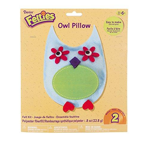 Felties Felt Kit - Owl Pillow - Makes 2