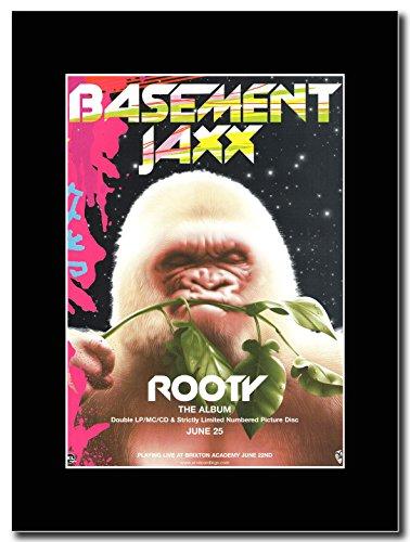 Basement Jaxx-Rooty Magazine Promo su un supporto, colore: nero