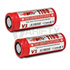2 Efest IMR 18500 1100mAh 3.7v Rechargeable High Drain Flat Top Batteries