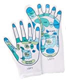 Reflexology Gloves & Socks Set- Reflexology Zones Marked. 1 Pair of Each