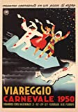 C1950 Vintage Travel ITALY See VIAREGGIO CARNIVAL by Uberto Bonetti 250gsm ART CARD Gloss A3 Reproduction Poster