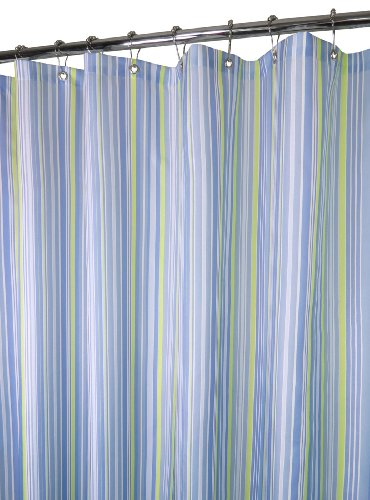 Park B. Smith Strings Stripe Shower Curtain, Sky
