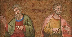 The Polyster Canvas Of Oil Painting 'Dalmatian Two Apostles Fragment Of Predella ' ,size: 20 X 39 Inch / 51 X 99 Cm ,this Imitations Art DecorativeCanvas Prints Is Fit For Bar Decor And Home Decor And Gifts