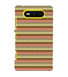EPICCASE ethnic pattern Mobile Back Case Cover For Nokia Lumia 820 (Designer Case)