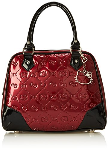 Hello Kitty Berry Embossed Pattern with Dog Clip Shoulder Bag, Multi, One Size (Hello Kitty Quilted Purse compare prices)